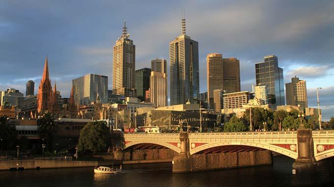 Melbourne in Victoria Australia